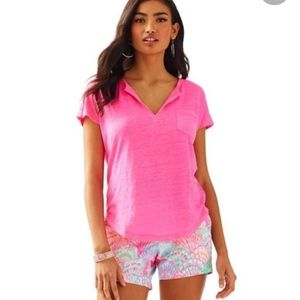 Lilly Pulitzer Hot Pink Duval Top XS